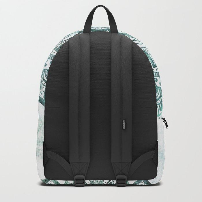 Emerald Jewel Mandala Backpack
