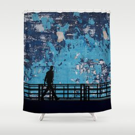 ABSTRACT WALK Shower Curtain