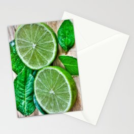 Green Limes & Mint Stationery Cards