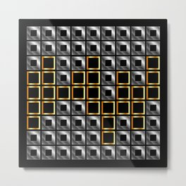 Abstract composition with squares Metal Print