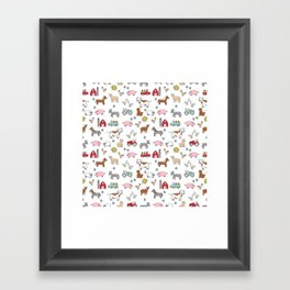 Farm animals nature sanctuary cow pig goats chickens kids gender neutral Framed Art Print
