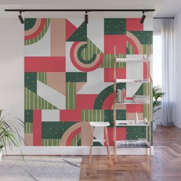 Traditional Xmas Quilt Wall Mural
