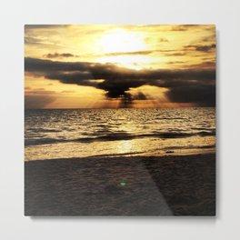 Crepuscular light  Metal Print