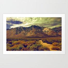 California Postcards Lone Pine Art Print