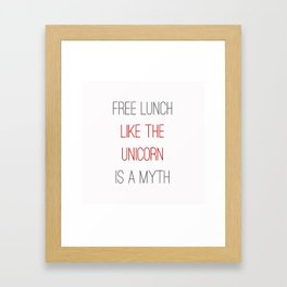 FREE LUNCH 1 Framed Art Print