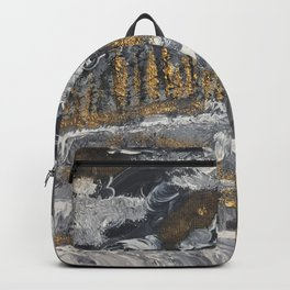 Golden mountain path Backpack