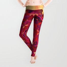Hot Autumn Mandala Design Leggings
