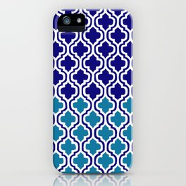 Moroccan Blue tile pattern1 iPhone Case