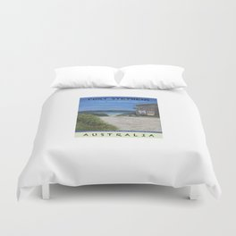 Travel Poster One Mile, NSW Duvet Cover