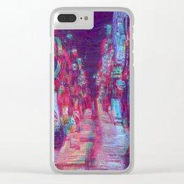 Tokyo Street Vaporwave Glitch Clear iPhone Case
