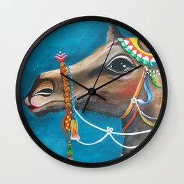 Camel in the Orient Wall Clock