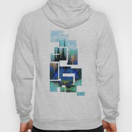 Blue Spruce Island Abstract Art Hoody