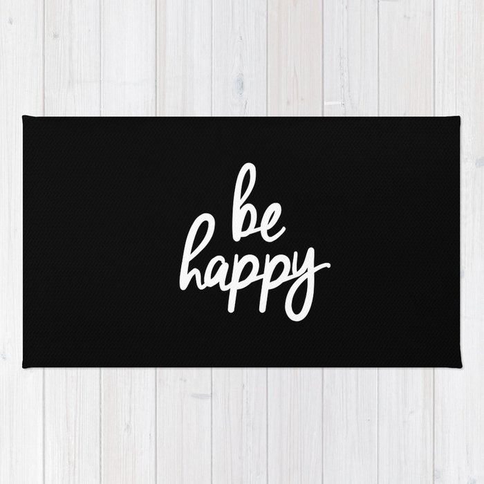 Be Happy Black And White Short Inspirational Quotes Pursuit Of