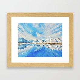 Maskinonge Waterton Lakes Winter Reflection Framed Art Print