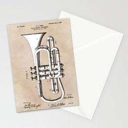 patent Conn Valve Musical Instrument 1901 Stationery Cards