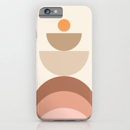 Abstraction Shapes 8 in Neutral Shades (Sun and Window abstraction) iPhone Case