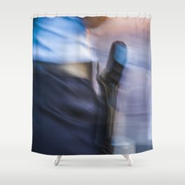 The gun of a police woman Shower Curtain