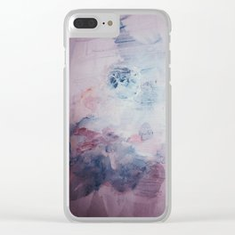 Pastel Floral Mess Clear iPhone Case