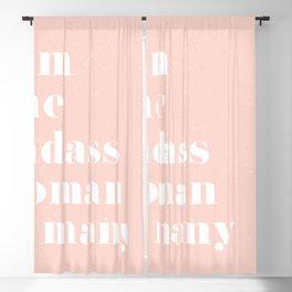 I am a badass woman Blackout Curtain