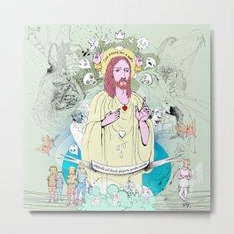 Jesus - Sed libera nos a malo Metal Print
