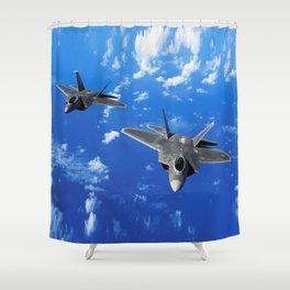 F-22 Raptor Shower Curtain