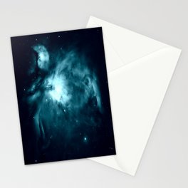 Teal Orion nebula : Hauntingly Beautiful Space Series Stationery Cards
