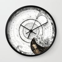 astrology Wall Clocks featuring astrology lapse by Carolina Arévalo