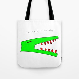 alligator and mosquito Tote Bag