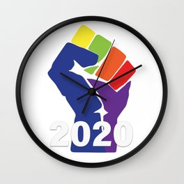 Resist To 2020 Wall Clock