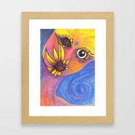 Mutated Iris Framed Art Print
