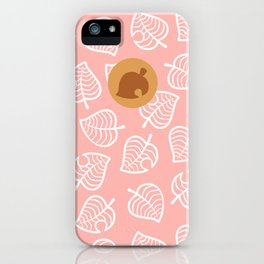 ac villager isabelle shirt pattern iPhone Case