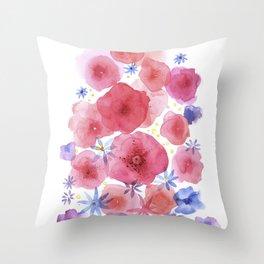 Caramel flowers Throw Pillow