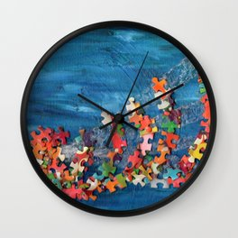 A Puzzling Wave Wall Clock