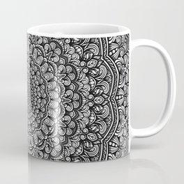 Gray colors mandala Sophisticated black and white ornament Coffee Mug