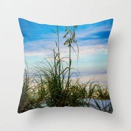 Nature Beach Grass Vertical Print Throw Pillow
