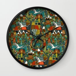 twisty turny love Wall Clock