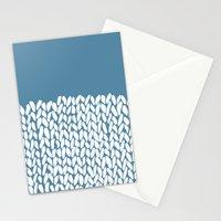 Half Knit Blue Stationery Cards