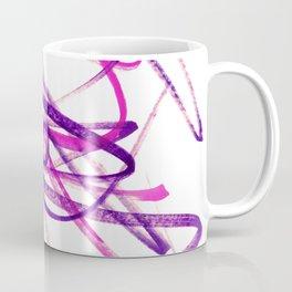Twisted Violet Fuchsia Abstract Lines Coffee Mug
