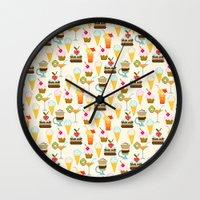 dessert Wall Clocks featuring Dessert by Valendji