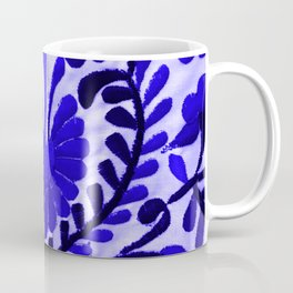 Beautiful Midnight Blue Mexican Flower Coffee Mug