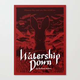 Watership Down poster - red Canvas Print