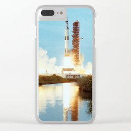 Skylab Space Station - Saturn V Launch Clear iPhone Case