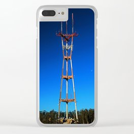 Sutro Tower- vertical Clear iPhone Case