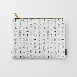 Kitchen utensil ink pattern Carry-All Pouch
