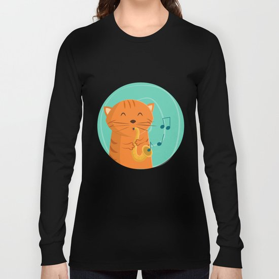 Jazz Cat Long Sleeve T-shirt