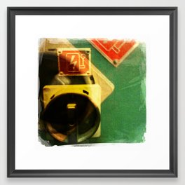 green bolt Framed Art Print