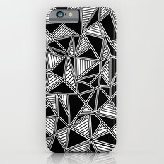 Abstract Outline Lines Black Slim Case iPhone 6s