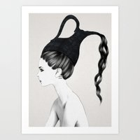 kpop Art Prints featuring Aquarius by Jenny Liz Rome