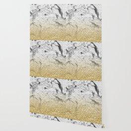 Amalfi golden ombre marble Wallpaper