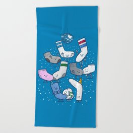 Lost Sock Party Beach Towel
